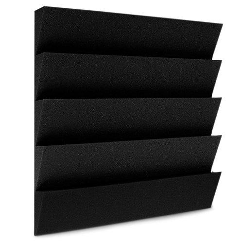 Панель из акустического поролона Ecosound Пила 50 мм 50х50см Цвет черный графит