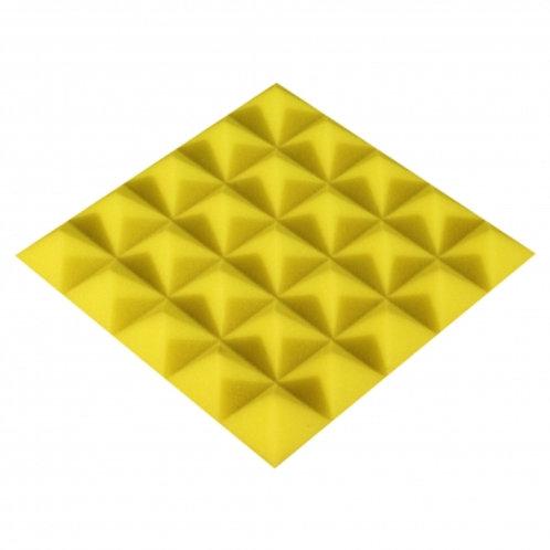Панель из акустического поролона Ecosound Pyramid Color 25 мм 25x25 см желтая