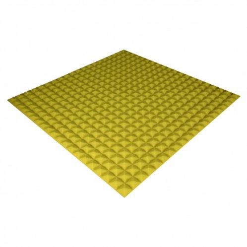 Панель из акустического поролона Ecosound Pyramid Color 20 мм 100x100 см желтая