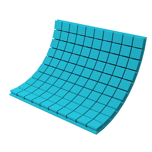 Панель из акустического поролона Ecosound Tetras Color 1000х1000х50 мм синяя