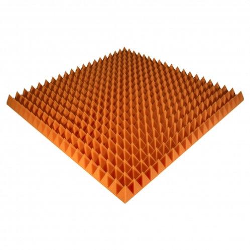 Панель из акустического поролона Ecosound Pyramid Color 70мм 100x100см оранжевая