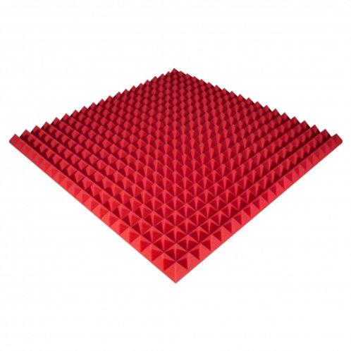 Панель из акустического поролона Ecosound Pyramid Color 50 мм 100x100 см красная