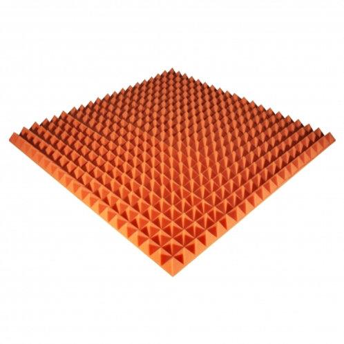 Панель из акустического поролона Ecosound Pyramid Color 50мм 100x100см оранжевая