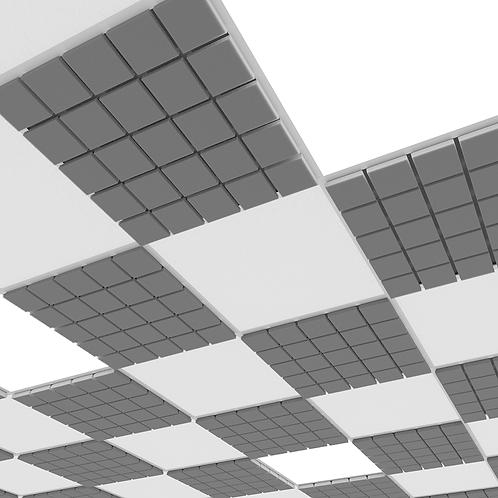 Акустическая плита для потолочных систем Ecosound Tetra Armstrong 50 мм серый