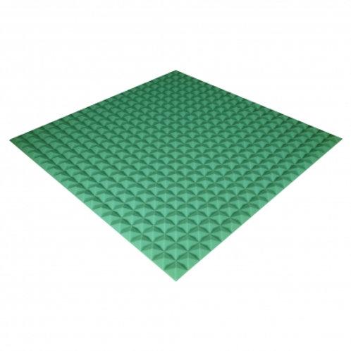 Панель из акустического поролона Ecosound Pyramid Color 20 мм 100x100 см зеленая