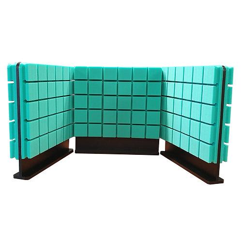 Комплект акустических ширм на стол Ecosound Tetras Green 60х60 см зеленый 3 шт.