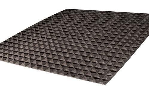 Акустический поролон Ecosound пирамида 10мм 1мх1м Цвет черный графит