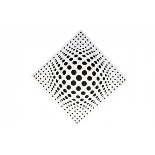 Акустическая панель Ecosound Lens white 50х50 см 73мм Цвет белый
