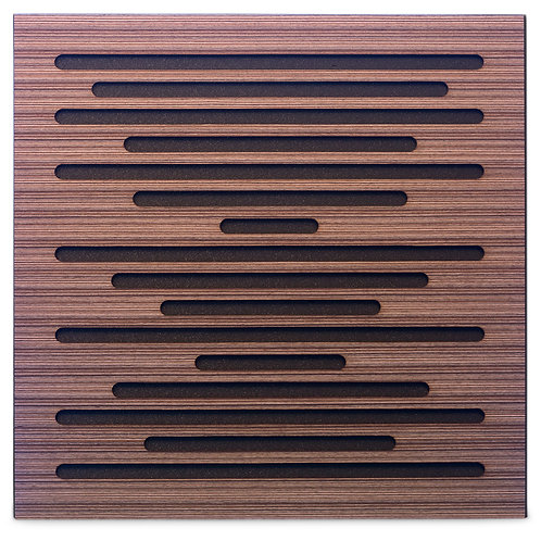 Акустическая панель Ecosound EcoWave Venge Contrast 50x50см 33мм цвет коричневый