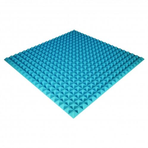 Панель из акустического поролона Ecosound Pyramid Color 25 мм 100x100 см синяя