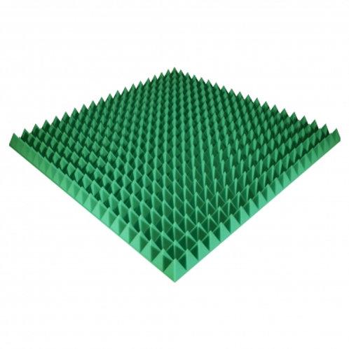 Панель из акустического поролона Ecosound Pyramid Color 70 мм 100x100 см зеленая
