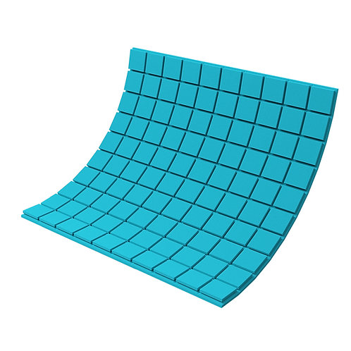 Панель из акустического поролона Ecosound Tetras Color 1000х1000х30 мм синяя