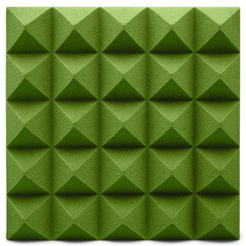 Панель из акустического поролона Ecosound Pyramid Velvet Green 250х250х25мм