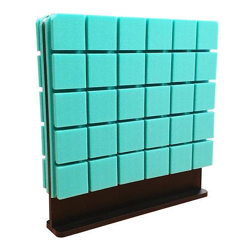 Настольная акустическая ширма для офисных столов Ecosound Tetras Green 600х600