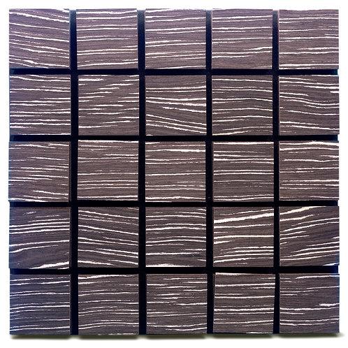Акустическая панель Ecosound Tetras Wood Ebony&Ivory 50x50см 73мм Черный