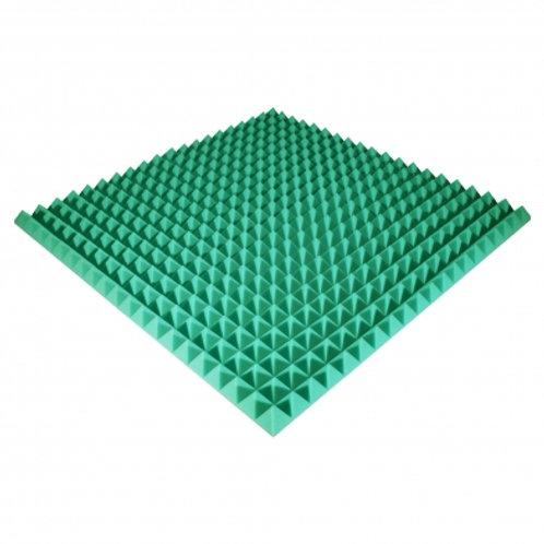 Панель из акустического поролона Ecosound Pyramid Color 50 мм 100x100 см зеленая