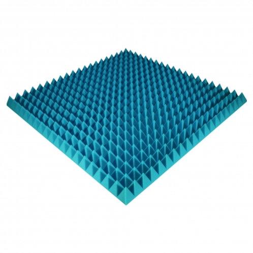 Панель из акустического поролона Ecosound Pyramid Color 70 мм 100x100 см синяя