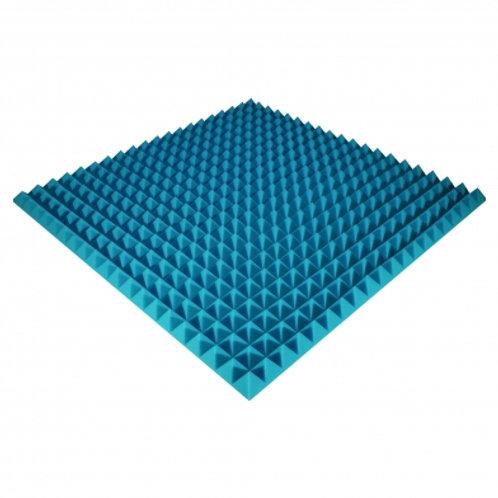 Панель из акустического поролона Ecosound Pyramid Color 50 мм 100x100 см синяя