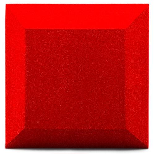 Бархатная акустическая панель Ecosound Velvet Red 25х25см 50мм. Цвет красный