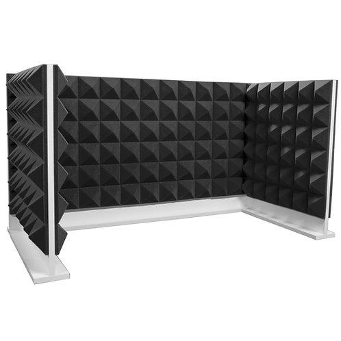 Комплект акустических ширм на стол Ecosound Pyramid Gray U-TYPE серый