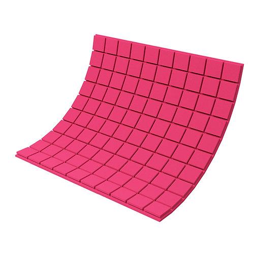 Панель из акустического поролона Ecosound Tetras Color 1000х1000х30 мм розовая