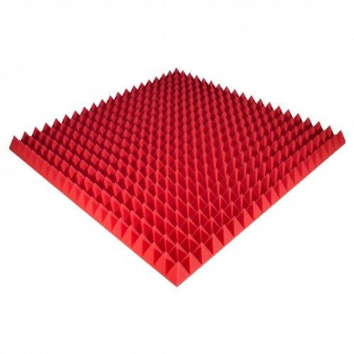 Панель из акустического поролона Ecosound Pyramid Color 70 мм 100x100 см красная