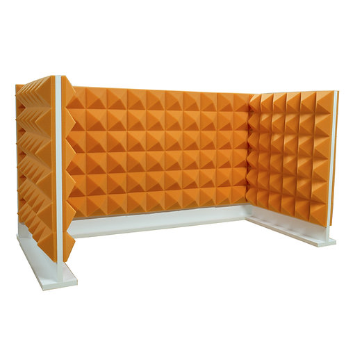 Комплект акустических ширм на стол Ecosound Pyramid Orange U-TYPE оранжевый