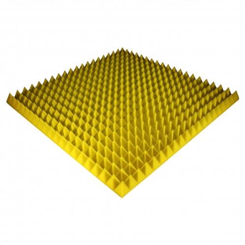 Панель из акустического поролона Ecosound Pyramid Color 70 мм 100x100 см желтая