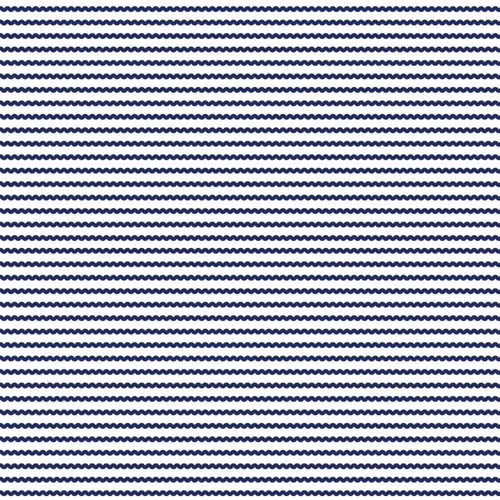 Navy Wave Stripe