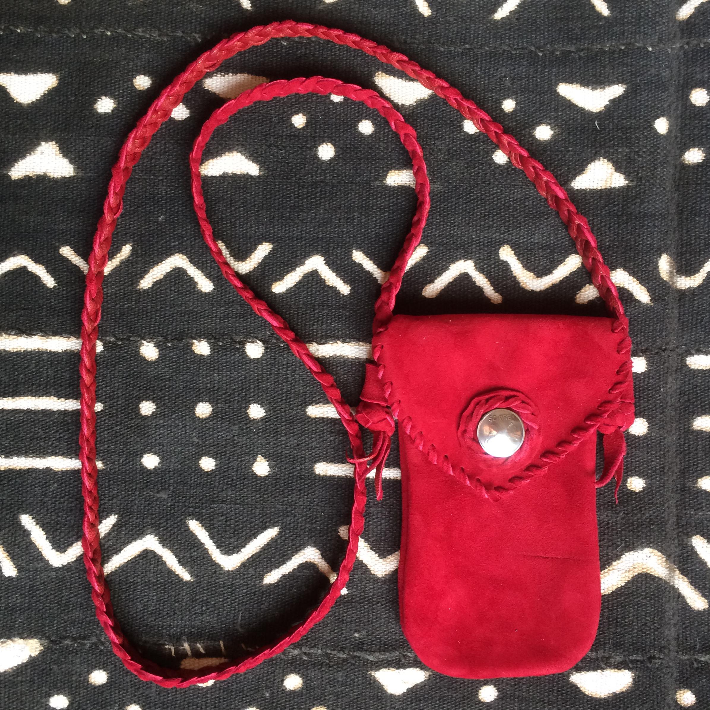 Suede Mobile Phone Bag