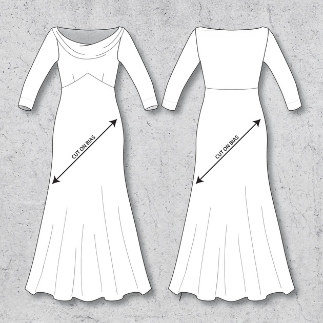 Cowl Dress - Two lengths available