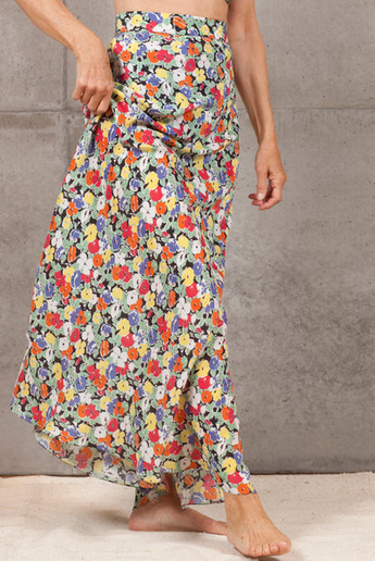 Pansies Swirl Skirt