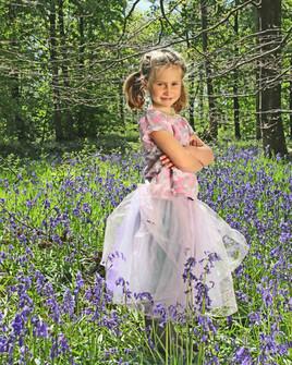 Alice amongst the Bluebells