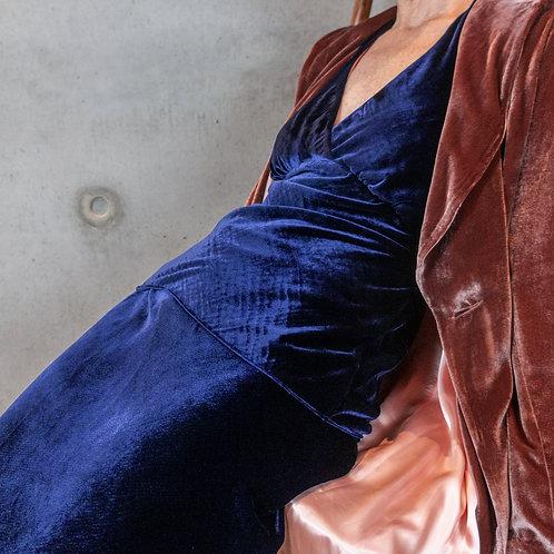 Silk velvet halter top