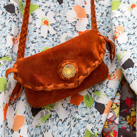 Vintage Coin Bag on 40's Floral Print