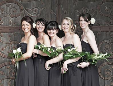 Bridesmaids at the Door
