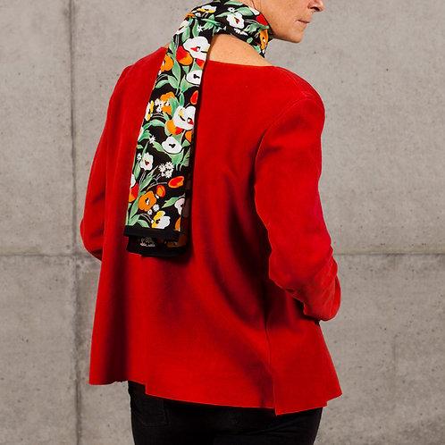 Poppy silk scarf