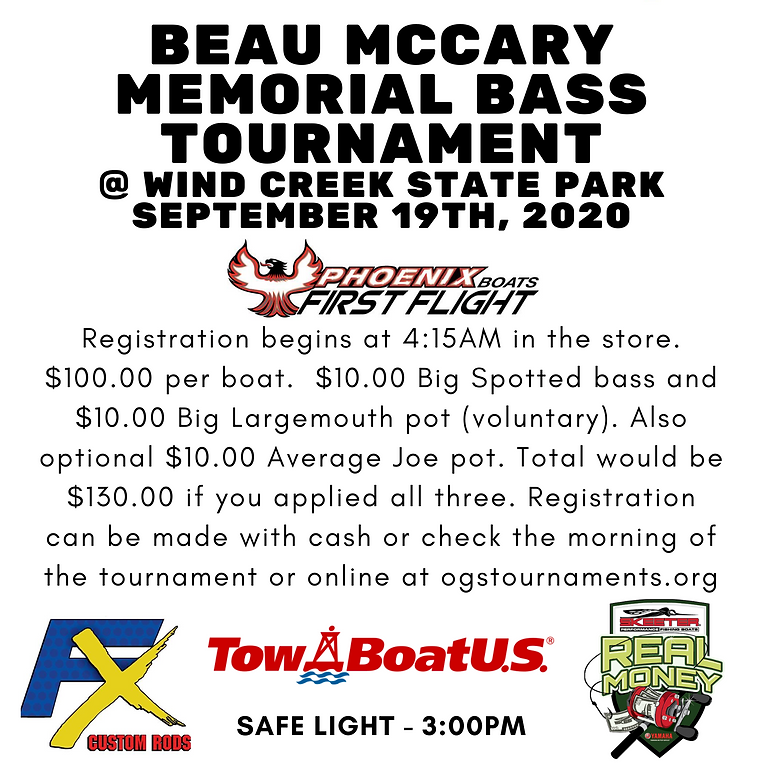 Beau McCary Bass Tournament