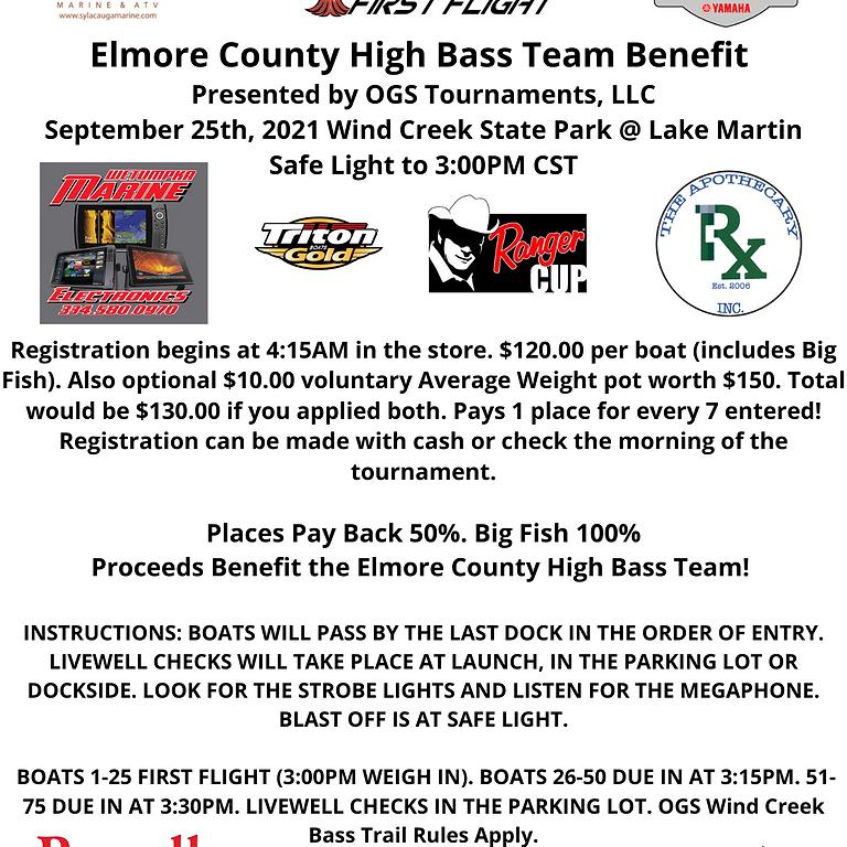 Elmore County High Bass Team Tournament