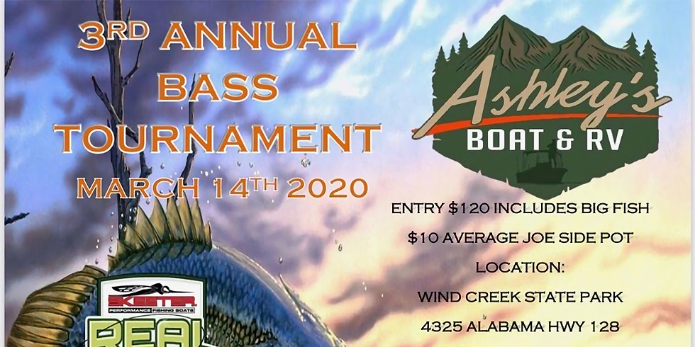 Ashley's Boat and RV 3rd Annual Bass Tournament @ Wind Creek