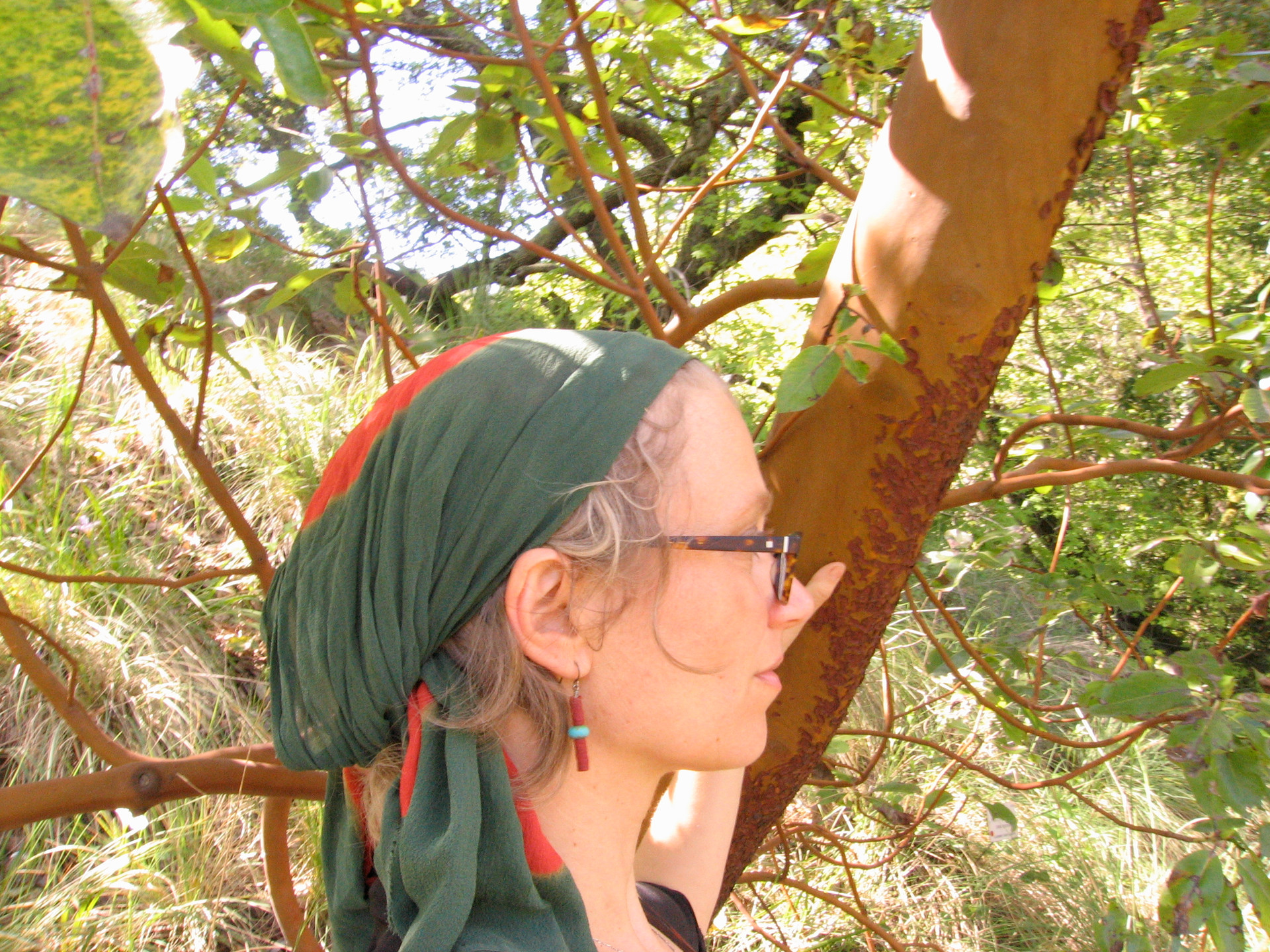 Angelina with madrone