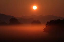 Sonnenaufgang im Ried II