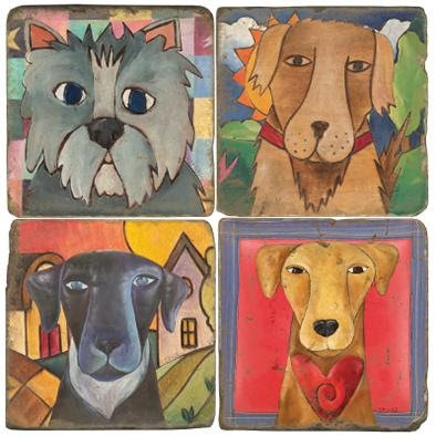 Abstract Dog Lover  - Coasters