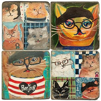 Abstract Cat Lover - Coasters
