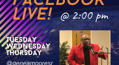 Join Dr. Gene Moore On FaceBook Live for Three Days!