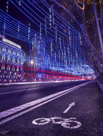 Navidad camino de la Puerta de Alcalá