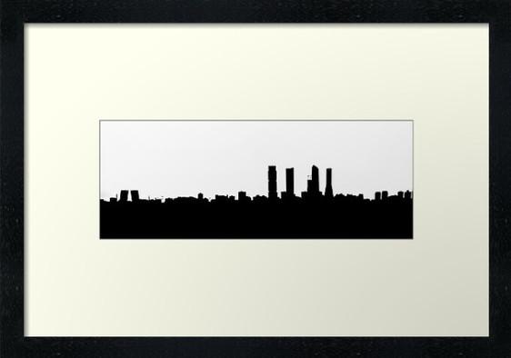Panoramica de Madrid en Blanco y negro