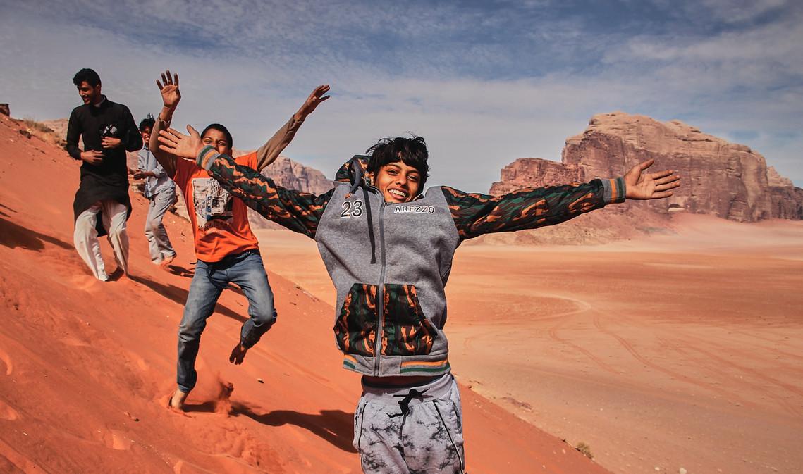 Saltos en el desierto