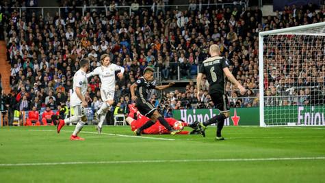 Gol del Ajax. Champions League