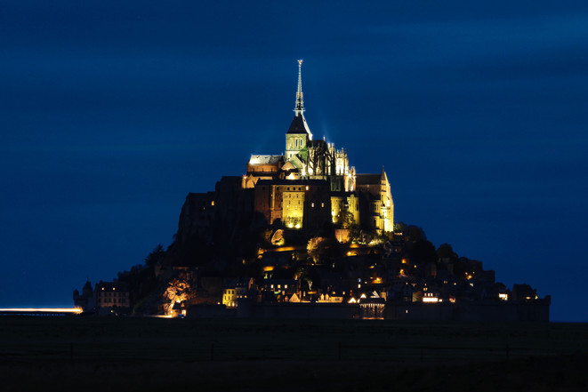 Mont St Michel de noche